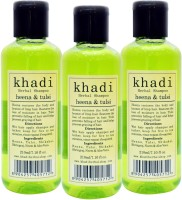 Khadi Herbal Heena & Tulsi Shampoo (210ml x 3)(630 ml)