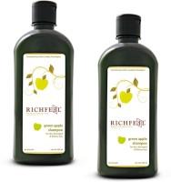 Richfeel Green Apple Shampoo pack Of 2(1000 ml)