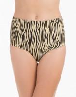 PrettySecrets Beige Zebra High Waist Shaping Women