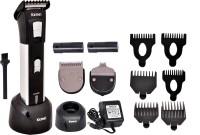 Kemei KM-3006 Cordless Grooming Kit for Men(Black)