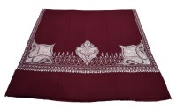 Sofias Cashmere Embroidered Women's Shawl(Maroon)