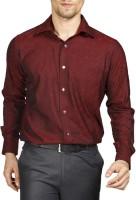 Raymond Men Checkered Formal Red Shirt