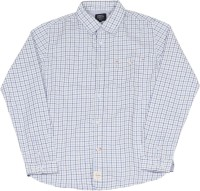 Indian Terrain Boys Checkered Casual White, Blue Shirt