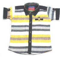 Empire Apparels Boys Striped Casual Yellow Shirt