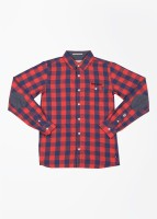 Pepe Jeans Boys Checkered Casual Blue, Red Shirt