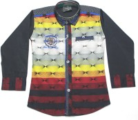 Empire Apparels Boys Embroidered Casual Yellow Shirt