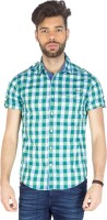 Mufti Mens Checkered Casual Multicolor Shirt