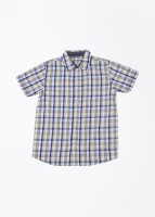 Pepe Jeans Boys Checkered Casual Beige, Blue Shirt
