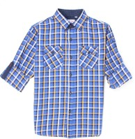 Monte Carlo Boys Checkered Casual Blue Shirt