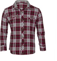 Lumber Boy Boys Checkered Casual Red Shirt