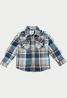 Cherry Crumble California Boys Checkered Casual Brown Shirt