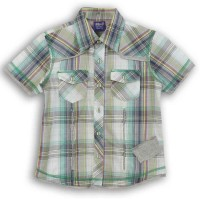 Lilliput Boys Checkered Casual Green Shirt