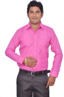 Leaf Mens Solid Formal Pink Shirt