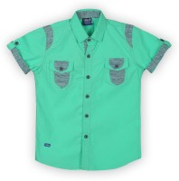 Lilliput Boys Solid Casual Green Shirt