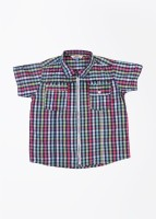 People Boys Checkered Casual Multicolor Shirt