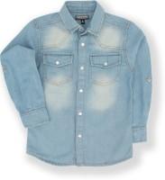 Tonyboy Boys Solid Casual Blue Shirt