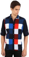 EdenElliot Mens Printed Casual Multicolor, Blue Shirt