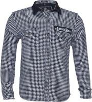 Lumber Boy Boys Self Design Casual White Shirt