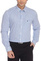 Parx Men Checkered Formal Blue Shirt