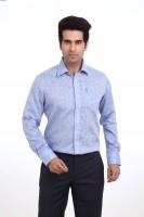 Park Avenue Men's Solid Formal Linen Blue Shirt