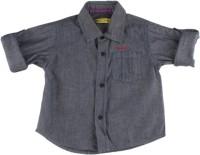 Gini & Jony Baby Boys Solid Casual Blue Shirt