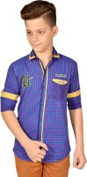 Anry Boys Checkered Casual Blue Shirt
