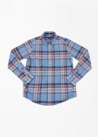 Gant Boys Checkered Casual White, Blue Shirt
