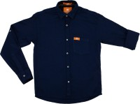Little Man Boys Solid Casual Classic Shirt