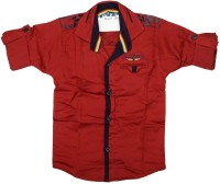 Kidzee Boys Solid Casual Red Shirt