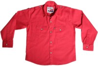 Little Man Boys Solid Casual Pink Shirt