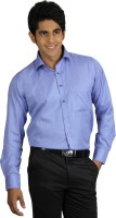Finder Zone Mens Solid Formal Blue Shirt