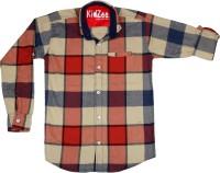 Kidzee Boys Self Design Casual Red Shirt