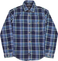 Indian Terrain Boys Checkered Casual Blue Shirt