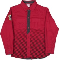 FS MINI KLUB Boys Solid Casual Red Shirt