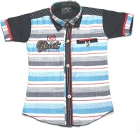 Empire Apparels Boys Embroidered Casual Blue Shirt
