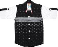 Kidzee Boys Checkered Casual Black Shirt