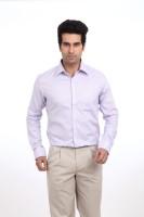 Park Avenue Men Solid Formal Purple Shirt