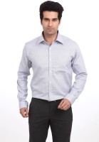 Park Avenue Men Solid Formal Blue Shirt