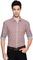 Allen Solly Mens Striped Casual Red, White Shirt