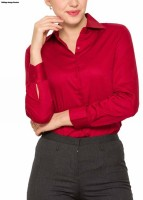 Park Avenue Women's Solid Formal Red Shirt