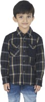 SuperYoung Boys Checkered Casual Beige Shirt