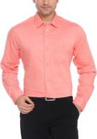 ColorPlus Men Solid Formal Red Shirt