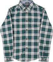 Indian Terrain Boys Checkered Casual White, Dark Green Shirt