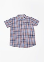 Pepe Jeans Boys Checkered Casual White, Blue, Red Shirt