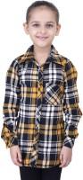 Oxolloxo Girls Checkered Casual Shirt