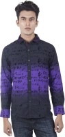 EdenElliot Mens Printed Casual Black, Purple Shirt