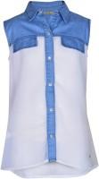 Gini & Jony Girls Solid Casual White Shirt