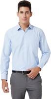 University of Oxford Men's Checkered Formal Blue Shirt