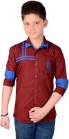 Aedi Boys Solid Casual Point Colloar Shirt