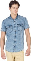 Mufti Mens Solid Casual Light Blue Shirt